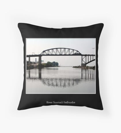 International Peace Bridge Throw Pillow
