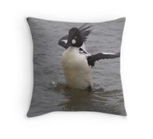 Back-off rubber ducky Throw Pillow