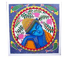 Nirvana in Madhubani by Arvin.D Authelsingh