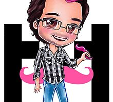 PINKIPLIER - Markiplier pink hair chibi2 by Dacdacgirl