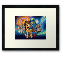 Doctor Whooves - Galaxy Framed Print