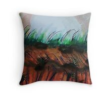 Watch Out  For the Cliff!!  watercolor Throw Pillow