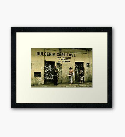 Dulceria Carlitos Framed Print