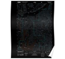 USGS Topo Map Oregon Florence 20110808 TM Inverted Poster