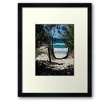 Pathway to Dreamtime Beach, at Fingal NSW Framed Print
