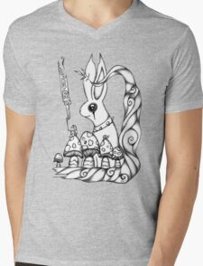 What hiddes in the woods Mens V-Neck T-Shirt