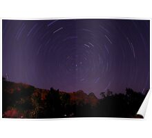 Star Trails over Zion Poster