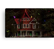 CHILDRENS SPOOK HOUSE BOOK COVER Canvas Print