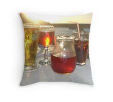 drinks at sundown Throw Pillow