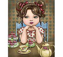 cupcakes and tea Photographic Print
