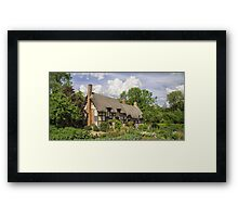 Ann Hathaways Cottage Framed Print