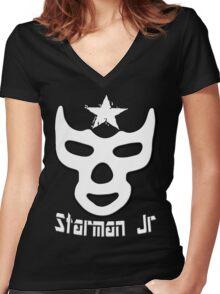 Starman Jr. T-shirt Women's Fitted V-Neck T-Shirt