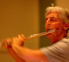 Terry Oldfield - The Flute Player by AMP  Al Melville Photography