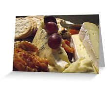 wine, walnuts, cheese and fruit  Greeting Card