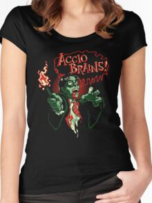 Accio Brains! Women's Fitted Scoop T-Shirt