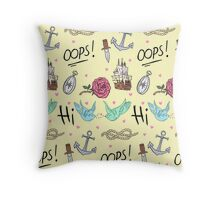 Larry Stylinson Complimentary Tattoo Pattern Throw Pillow