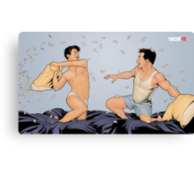 Pillow Fight - Tough Canvas Print
