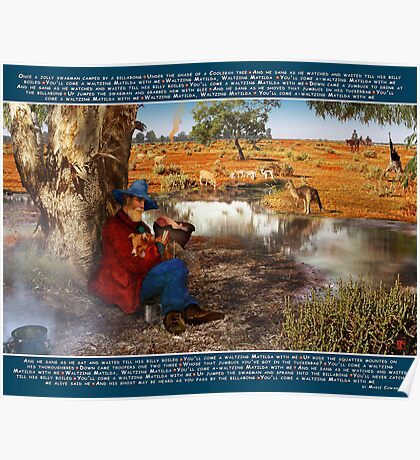 Waltzing Matilda: The Words We Sing by Marie Cowan Poster
