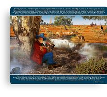 Waltzing Matilda. National Song of Australia. Words by Banjo Paterson Canvas Print