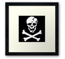 Skull Squadron (white skull) Framed Print