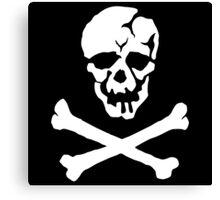 Skull Squadron (white skull) Canvas Print