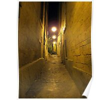 Montpelier alley at night Poster