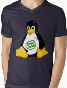 Linux Inside Mens V-Neck T-Shirt