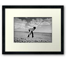 Pebble Hunt Framed Print