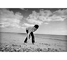 Pebble Hunt Photographic Print