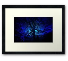 ~blue moon~ Framed Print