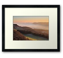 Temperature inversion - Scout Scar, Kendal Framed Print