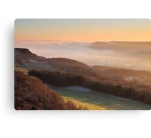 Temperature inversion - Scout Scar, Kendal Canvas Print