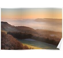 Temperature inversion - Scout Scar, Kendal Poster