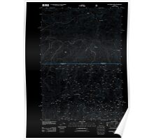 USGS Topo Map Oregon Dutchman Creek 20110727 TM Inverted Poster