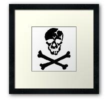 Skull Squadron (black skull) Framed Print