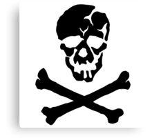 Skull Squadron (black skull) Canvas Print