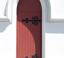 What's behind the red door? by Justine Armstrong