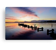 Budgewoi Lake Sunrise..15-4-11. Canvas Print