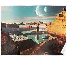 New Santorini Sunset  Poster