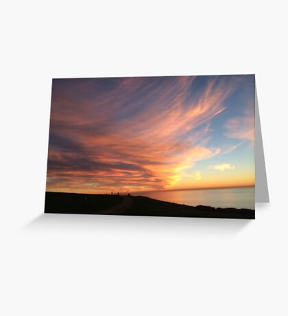 Sweeping Clouds at Dusk Greeting Card