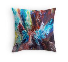 Abstract Fluid Painting 46 Throw Pillow