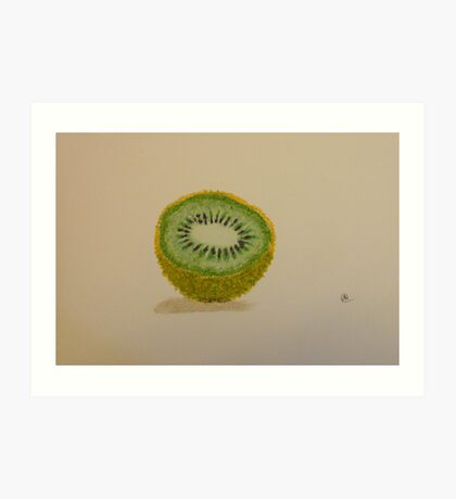 """Sliced Kiwi Fruit"" Art Print"