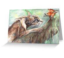 Myth Cat & Butterfly Greeting Card
