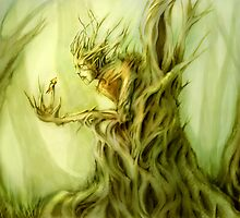 Tree Spirit and Butterfly by Jessica Feinberg