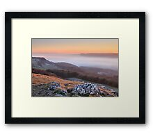 Scout Scar, Kendal - Temperature inversion Framed Print