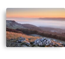 Scout Scar, Kendal - Temperature inversion Canvas Print
