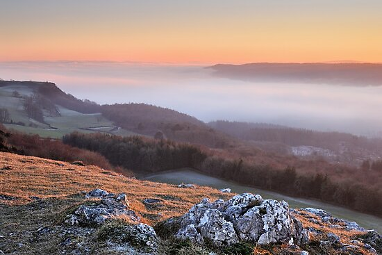 Scout Scar, Kendal - Temperature inversion by Dave Lawrance