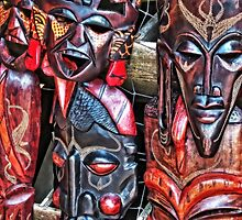 Tribal Masks by Noble Upchurch