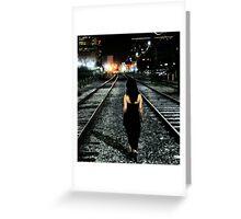 I walk alone... Greeting Card