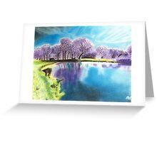 """Purple Park"" Greeting Card"